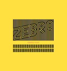Striped font design alphabet letters and numbers vector