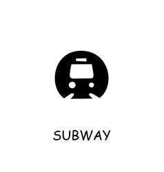 Subway flat icon vector