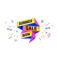 Summer sale 3d sale banner with text summer sale vector