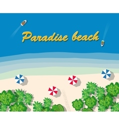 Summer vacation hotel vector image