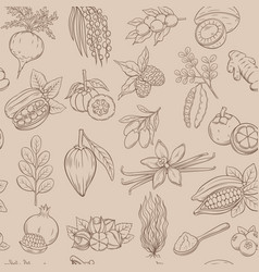 Superfood seamless pattern vector