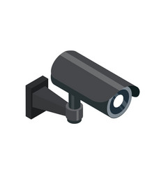 Surveillance camera isometric 3d icon vector