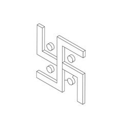 Swastika icon isometric 3d vector