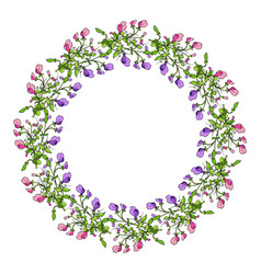 Sweet pea wreath vector