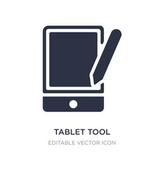 Tablet tool icon on white background simple vector