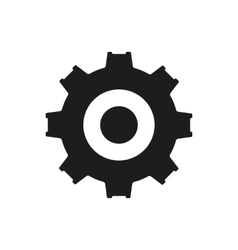 The gear icon Settings symbol Flat vector image