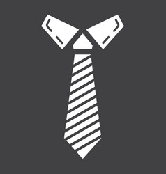 Tie solid icon business and necktie vector