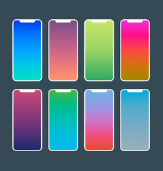 Trendy gradient wallpapers vibrant swatches for vector