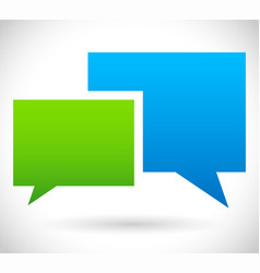 Two overlapping speech talk bubbles communication vector