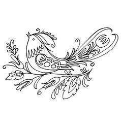 Ukrainian folk style vector image