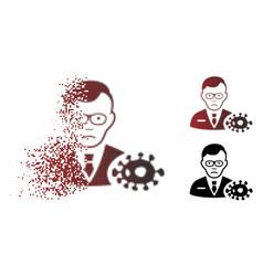Unhappy dispersed pixel halftone bacteriologist vector