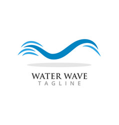 water wave graphic design template vector image