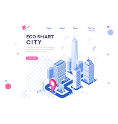 web city smart building vector image