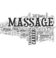 what you need to know to get into massage therapy vector image