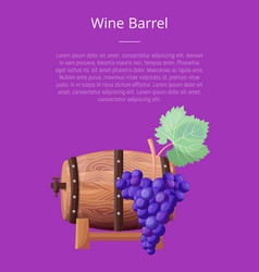 wine barrel text and title vector image