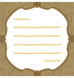 Wood pattern card2 vector image