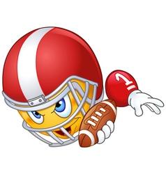 american football player emoticon vector image vector image