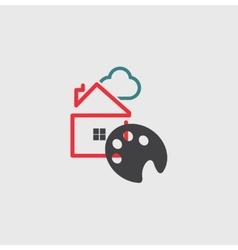 Artists House icon vector image