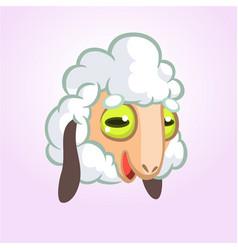 cartoon sheep mascot character vector image