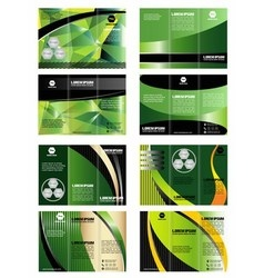 Collection of tri-fold brochure design vector