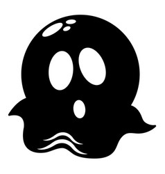 ghost icon simple black style vector image
