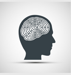 human head with a labyrinth vector image vector image