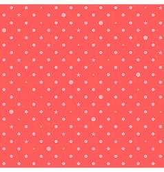 Orange Pink Red Star Polka Dots Background vector image vector image