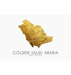 Saudi arab map Golden Saudi Arab logo Creative vector image vector image