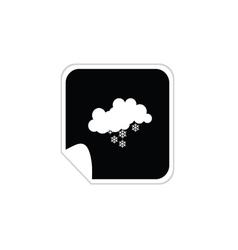 weather snowflake icons vector image