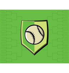 Baseball Icon Bracket vector image vector image
