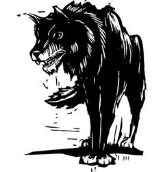 Big Bad Wolf vector image