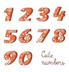 Elegant colorful numbers collection vector image vector image