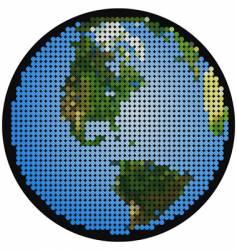 mosaic earth vector image