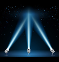 searchlights or spotlights vector image vector image