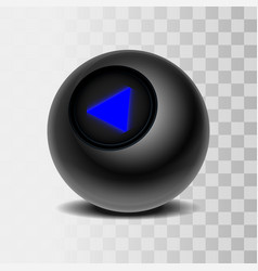 the magic ball of predictions for decision-making vector image vector image