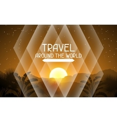 Travel around the world Tropical background with vector image vector image