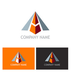 3d arrow letter a logo vector image