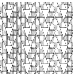 Black and white seamless pattern with Christmas vector image vector image