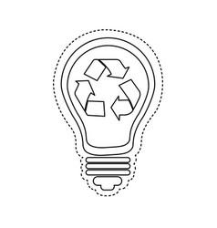 bulb save eco icon vector image