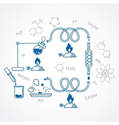 chemical process vector image