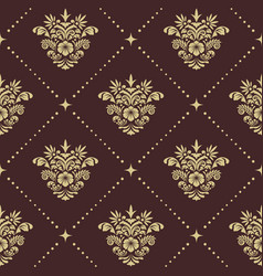 vintage baroque seamless pattern vector image vector image