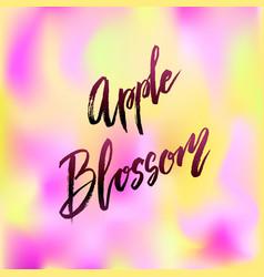 Apple blossom spring concept lettering vector