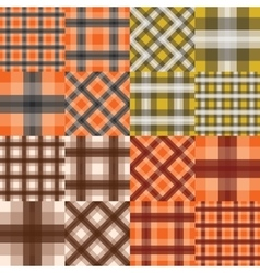 Big set of seamless tartan patterns vector image vector image