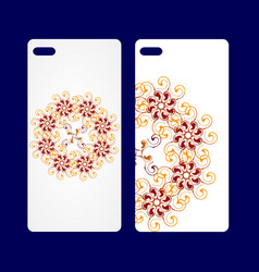 blank realistic white smart phone mock up back vector image