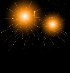 Christmas dark background with fireworks vector image vector image