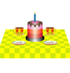 Coffee and cake vector image vector image