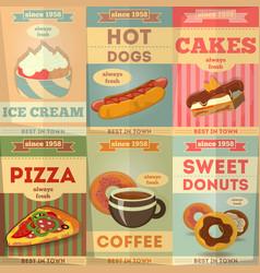 food poster set vector image