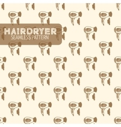Hairdryer Vintage style vector image vector image