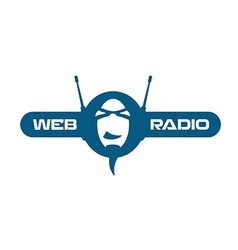Internet radio logo vector image vector image