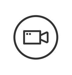 line video icon on a white background vector image vector image